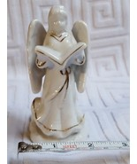 Angel with hymn Book Christmas Xmas candle holder decoration pre-owned v... - $18.69