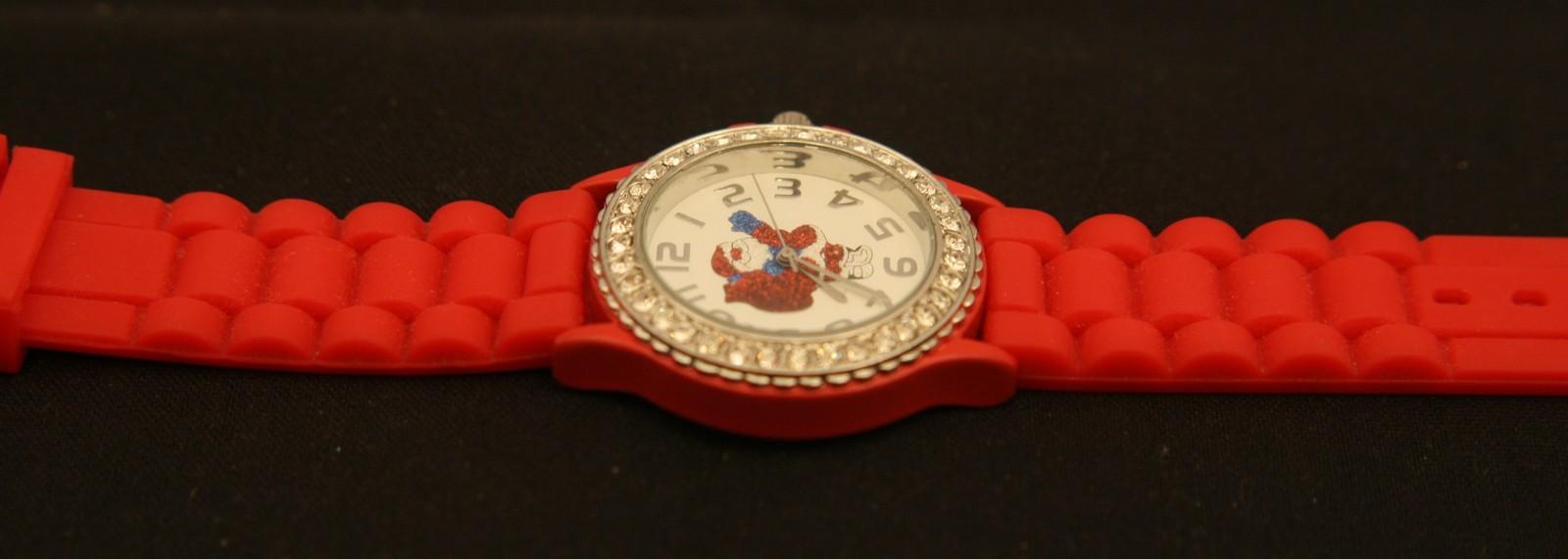 New ladies' Christmas glittered Santa Claus, rhienstone, quartz wristwatch
