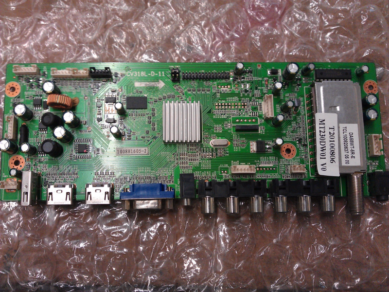 1008H1605-2 Main Board From Curtis LCD2425A LCD TV