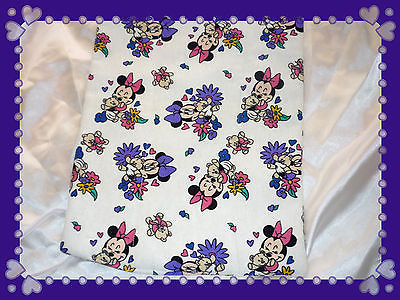 Minnie Mouse Knit Fabric Burp/Lap Pad Handmade Only 1 Left
