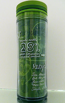Starbucks 2008 28% Post-Consumer Recycled Content Travel Reuse Mug Tumbler 12 oz