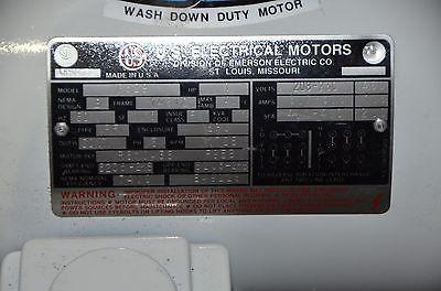 US MOTORS G329 THE SLICKER 1HP 208-230/460V 1725RPM 60HZ 3PH WASHDOWN MOTOR