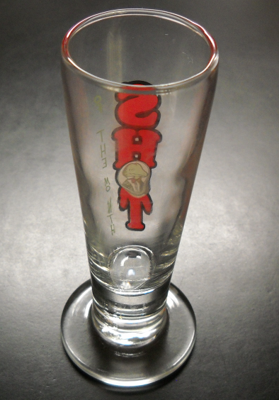Winking Lizard Shot Glass Shot Of The Month Pestle Style Clear Glass Heavy Base