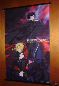 "FULLMETAL ALCHEMIST ED & MUSTANG WALL SCROLL 24X36"" NEW"