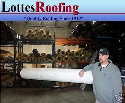 10' x 14' 60 MIL WHITE EPDM RUBBER ROOFING BY THE LOTTES COMPANIES