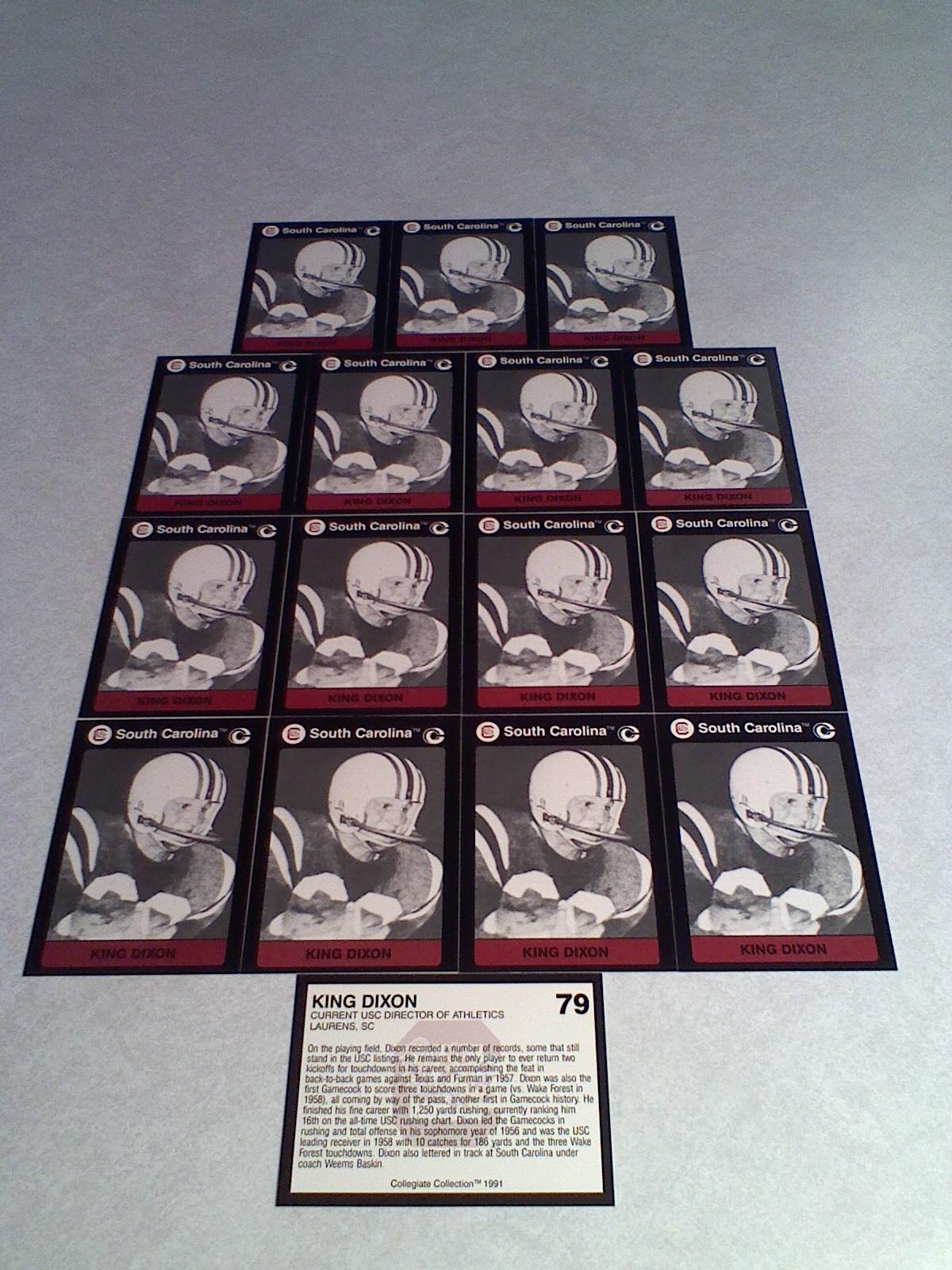 ***KING DIXON***   Lot of 16 cards / South Carolina