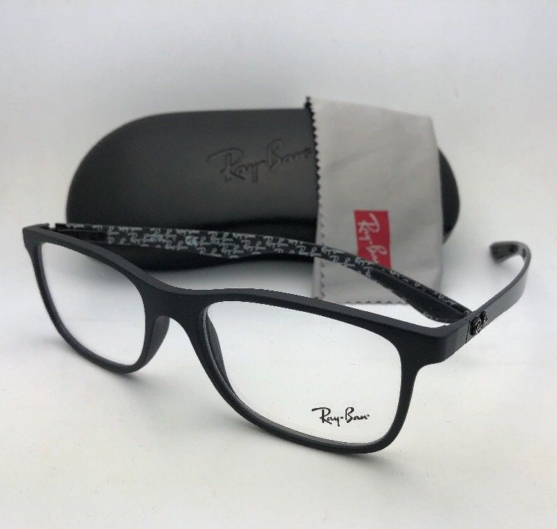 94fb454eb6 New RAY-BAN Eyeglasses TECH SERIES RB 8903 5263 55-17 Matte Black w Carbon  Fiber