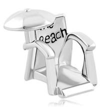 Beach snad Chair Summer vacation Umbrella bead charm F/European charm br... - $17.99