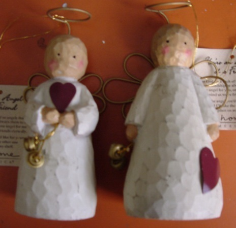 Ceramic Your an Angel of a Friend Figurines