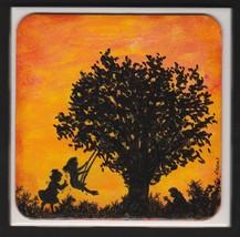 Twilight Memory Children Tree Swing Mom Reading... - $9.95