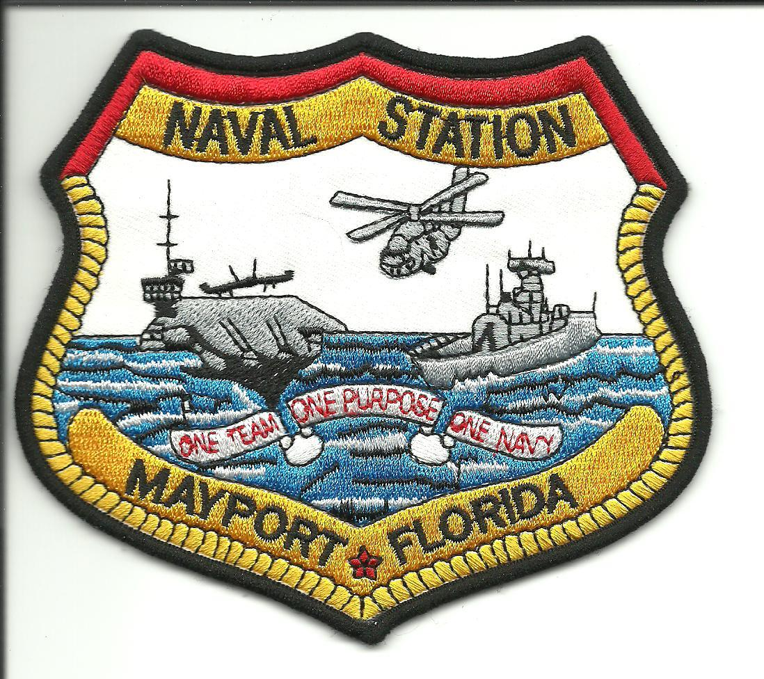 Us navy naval station mayport florida 1 team 1 purpose 1 navy patch