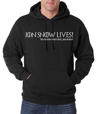 Jon Snow Lives! You Know Nothing Jon Snow Men's Hoodie Game of Thrones Stark