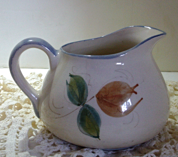 Pitcher Floral Design Marked Hand Painted Made In Portugal