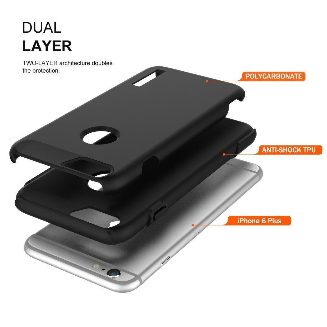 Totu Armor Series Case for Apple iPhone 6 Plus - Obsidian Black