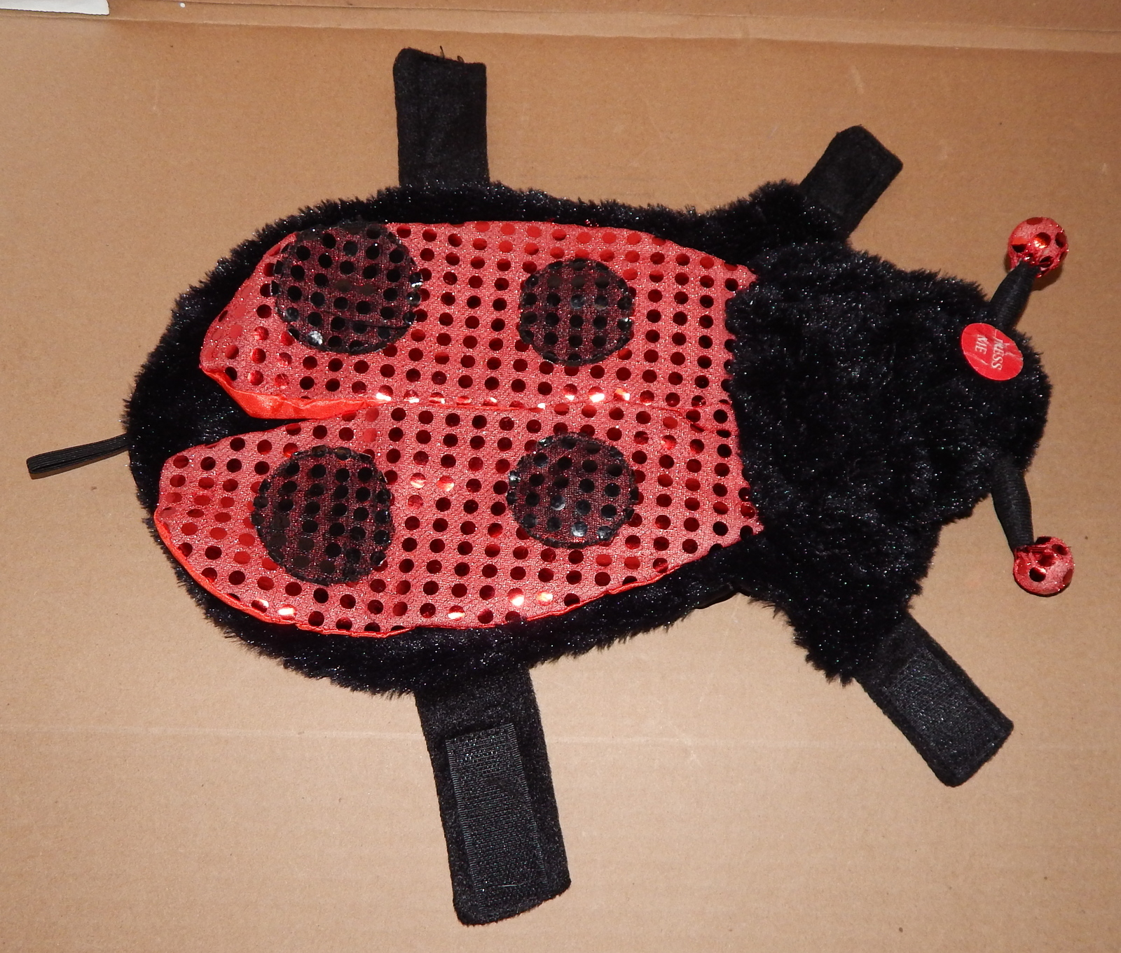 "Halloween Pet Costume Ladybug Light Up Eyes Small Fits 10"" To 13"" Dog 70L"