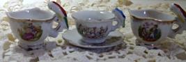 Vintage Lot of Miniature Childrens Tea cups // Made in Japan // Bird Han... - $12.00