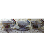 Vintage Lot of Miniature Childrens Tea cups // Made in Japan // Bird Han... - $12.00