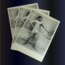 5 Muscleman Photo Postcards Vintage Retro Man Nude Gay Interest - $14.15