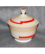Art Deco Zeh Scherzer Bavaria Porcelain Covered Bowl - $85.00