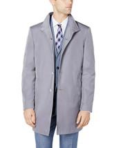 $350 NEW MENS CALVIN KLEIN SLIM FIT MERCER SILVER GREY SOLID RAIN COAT 4... - $79.19