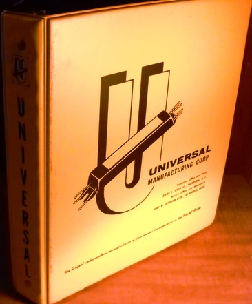 Advertising collectible Imprinted three ring binder Universal Manufacturing Corp