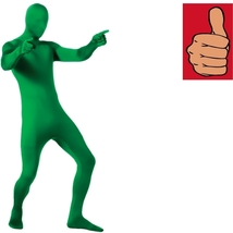 Costume - Adult - 2nd Skin - Green - Medium - Zentai Full Body Stretch Jumpsuit - $24.22