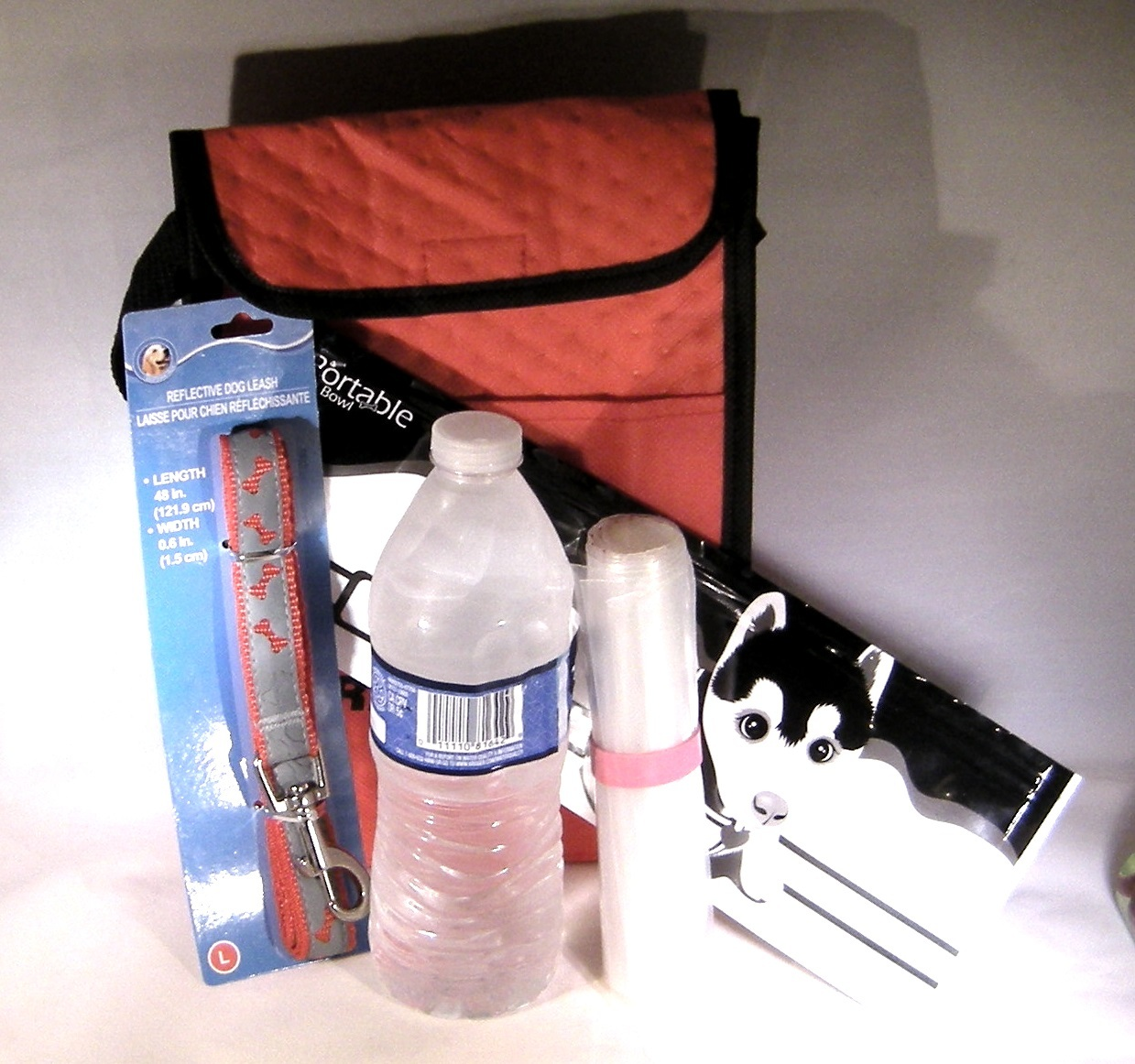 Car Stray Pet Rescue Kit Dog Cat Insulated Bag Leash Bags Water Bowl New