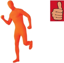 Costume - Adult - 2nd Skin - Orange - Large - Zentai Full Body Stretch Jumpsuit - $24.12