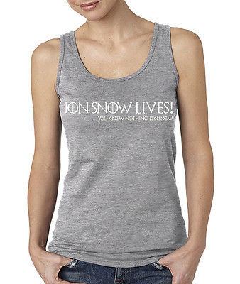 Jon Snow Lives! You Know Nothing Jon Snow Ladie's Softstyle Tank Top Stark