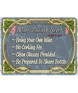 Wine Tasting Here Alcohol Merlot Chardonay Liquor Spirits Metal Sign - $15.95