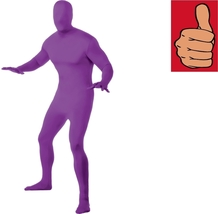 Costume - Adult - 2nd Skin - Purple - Medium - Zentai Full Body Stretch Jumpsuit - $24.22