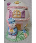 Interpur Int'l Inc Ceramic Easter Bunny Rabbit Egg House with Lid Candy ... - $23.89
