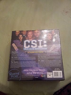 NEW CSI: Crime Scene Investigation  750 Piece Mystery Puzzle  Stabbing Pain