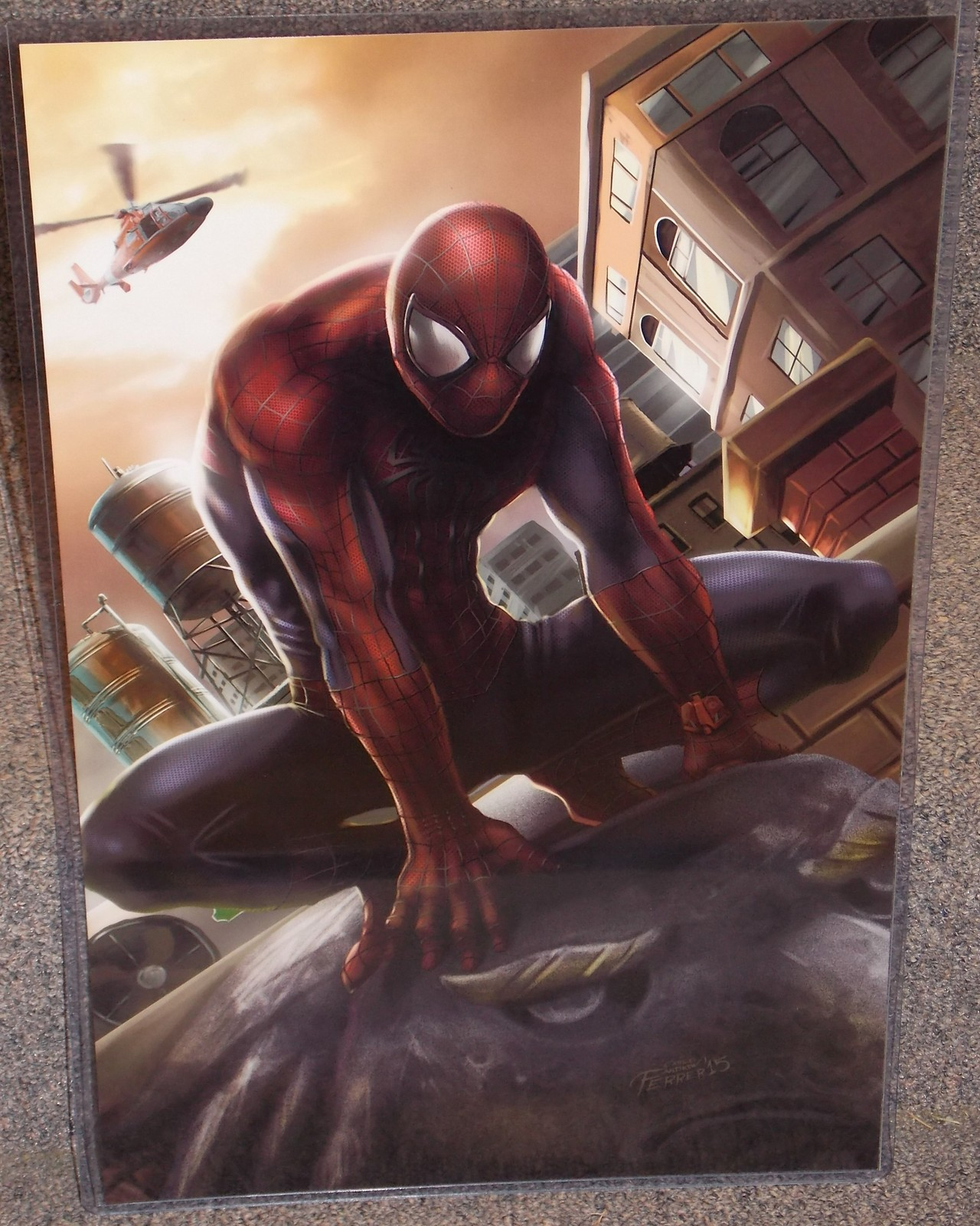 Spider-Man Glossy Print 11 x 17 In Hard Plastic Sleeve
