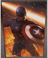 Captain America Glossy Print 11 x 17 In Hard Plastic Sleeve - $24.99