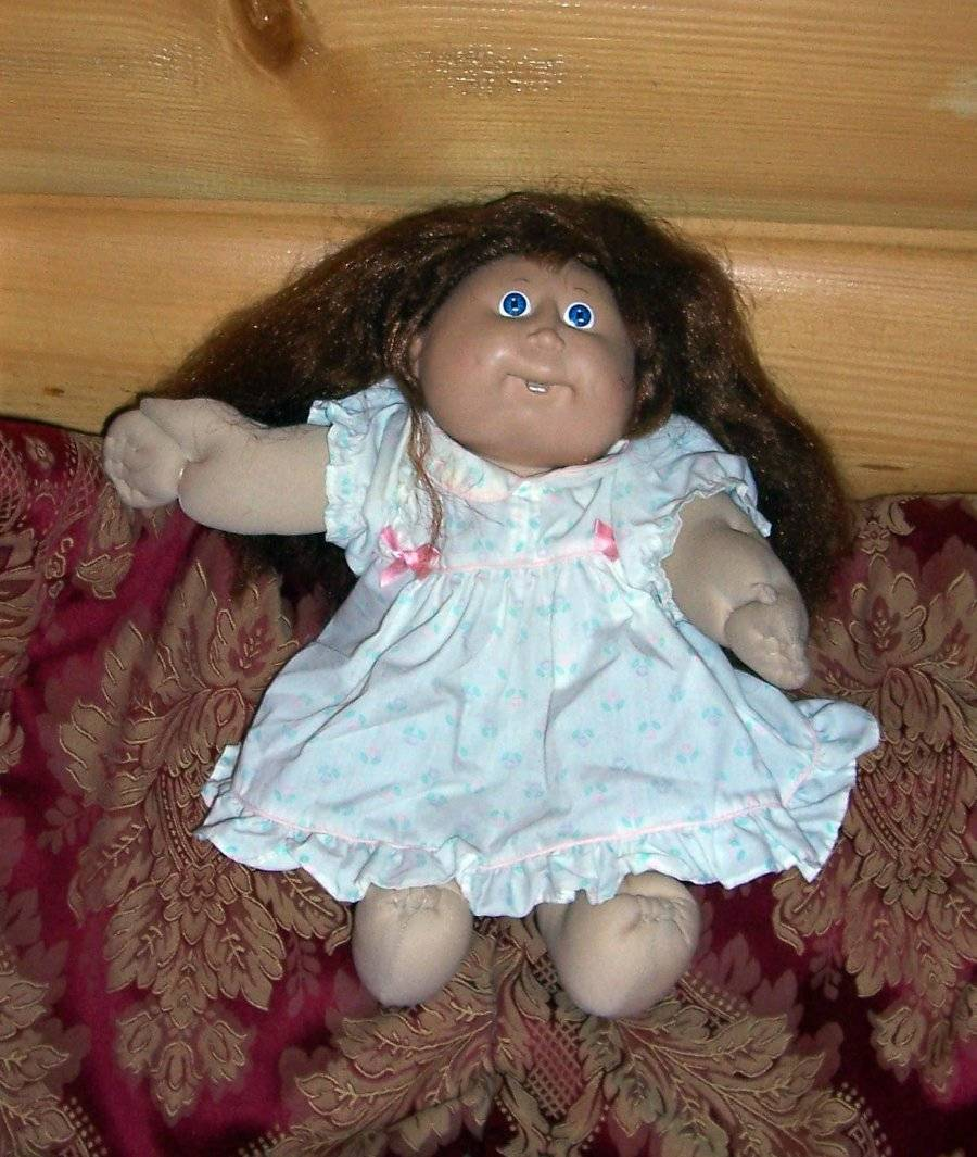 Cabbage Patch Kids Coleco Brown Full Cornsilk Hair #10 CPK '86 Orphan