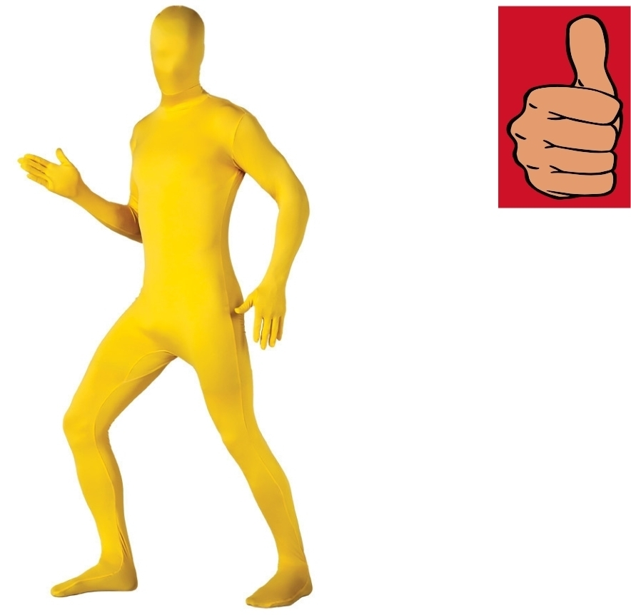 Primary image for Costume - Adult - 2nd Skin - Yellow - XL - Zentai Full Body Stretch Jumpsuit