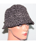 NWT August Accessories Black Cloche Hat Side Buttons detailing - $9.89