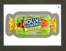 """2014 Wacky Packages Series 1 """"JOLLY ROACHER"""" #6 Silver Sticker Card - $1.99"""