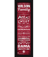 """Personalized University of Alabama - 24 x 8 """"Family Cheer"""" Framed Print - $39.95"""