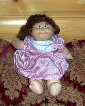 Cabbage Patch Kids Coleco Brown Cornsilk Pony #15 CPK Sateen Party Dress Orphan - $16.99