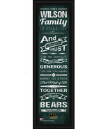 """Personalized Baylor University """"Bears"""" - 24x8 """"Family Cheer"""" Framed Print - $39.95"""
