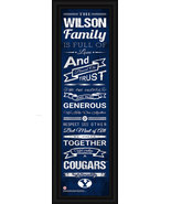 """Personalized BYU """"Cougars"""" - 24x8 """"Family Cheer"""" Framed Print - $39.95"""