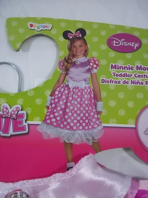 Disney Minnie Mouse Costume Large 4-6x with Gloves Headband & Petticoat