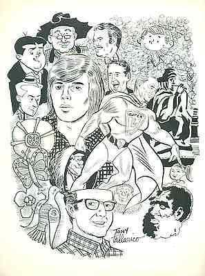"TONY TALLARICO (1976) 8-1/2 x 11"" unsigned ACBA Sketchbook print"