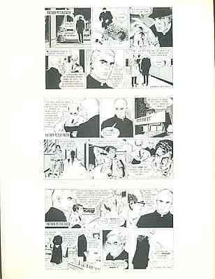 "FATHER PETER FAITH Jim Aparo (1976) 8-1/2 x 11"" unsigned ACBA Sketchbook print"
