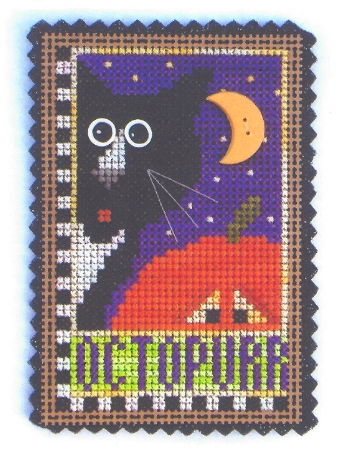 Octopurr Spook of Month Kit halloween cross stitch Val's Stuff