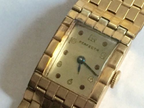 """VINTAGE SWISS PERFECTO GOLD LADIES  WATCH """"REALLY NICE"""""""