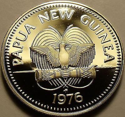 Rare Proof Papua New Guinea 1976 20 Toea~Bennett's Cassowary~16,000 Minted~Fr/Sh