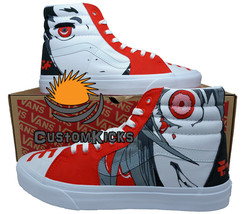 Painted Vans, Sk8Hi, Deadman Wonderland, Deadman shoes, Handpainted shoes - $143.00